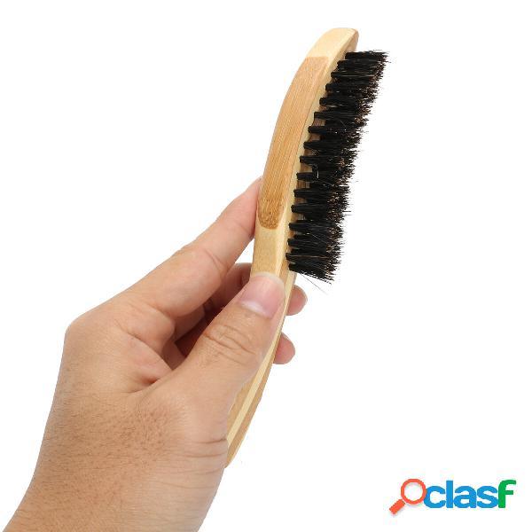 1pcs spazzola per viso barba da uomo spazzola per setole in legno con manico lungo in legno