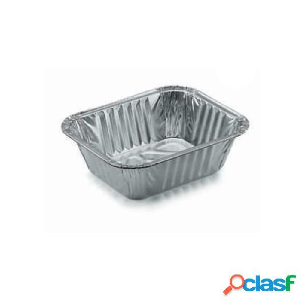 Contenitore rettangolare monouso per alimenti in alluminio lt 0,49