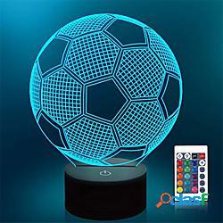 Luci notturne da calcio 3d tazza euro 1 pz interruttore tattile rgb 7 colori telecomando 16 colori regalo anniversario lampada da tavolo camera da letto usb lightinthebox