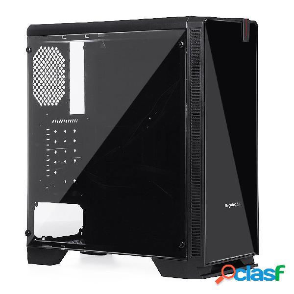 [eu] tempered glass desktop computer case 8 fans