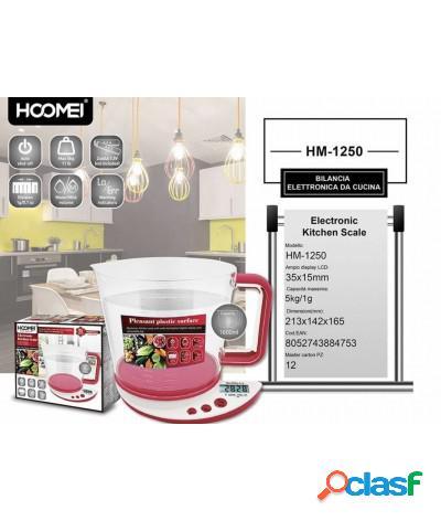 Bilancia elettronica da cucina per solidi e liquidi fino a 5kg hm-1250