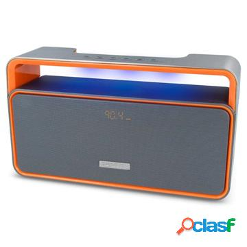 Altoparlante bluetooth forever bs-600 - grigio / arancione