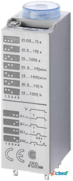 Finder 85.02.8.240.0000 relè temporizzato multifunzionale 230 v/ac 1 pz. intervallo di tempo: 0.05 s - 100 h 2 scambi