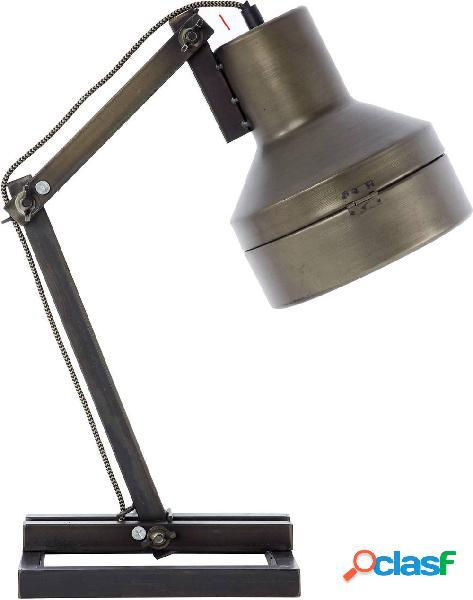 Brilliant hardwork lampada da scrivania led (monocolore) e27 28 w nero, acciaio inox