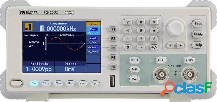 Generatore di funzioni fg-2502 2 canali arbitrario, rumore, puls, quadra, sinuosidale, triangolare, segnale di fabbrica senza certificato