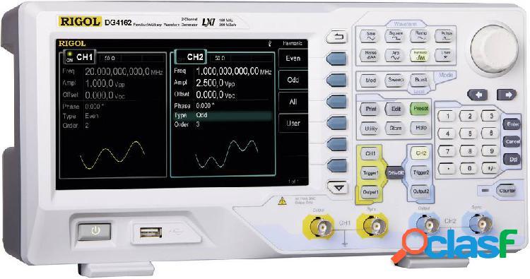 Rigol dg4062 generatore di funzioni 0.000001 hz - 60 mhz 2 canali sinuosidale, quadra, puls, rumore, arbitrario, triangolare