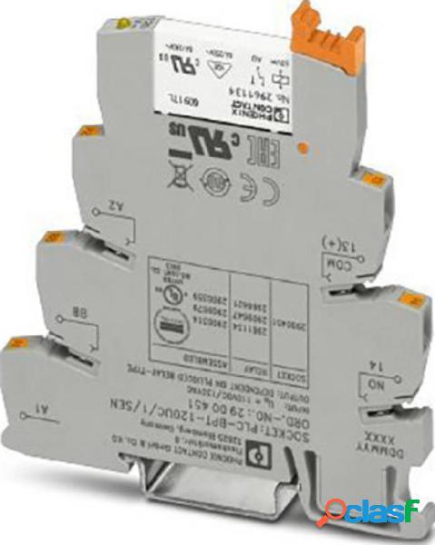 Phoenix contact plc-rpt-120uc/ 1au/sen modulo relè tensione nom.: 120 v/ac corrente di commut. max.: 50 ma 1 na 1 pz.
