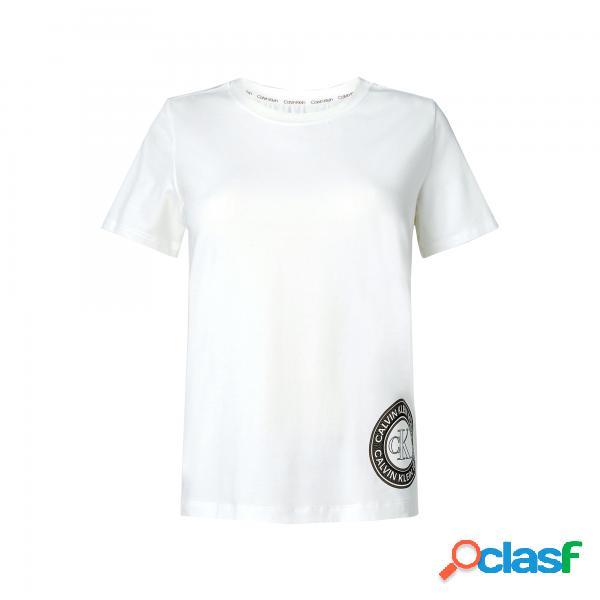 Calvin klein camicia girocollo da donna calvin klein - magliette manica corta - taglia: l