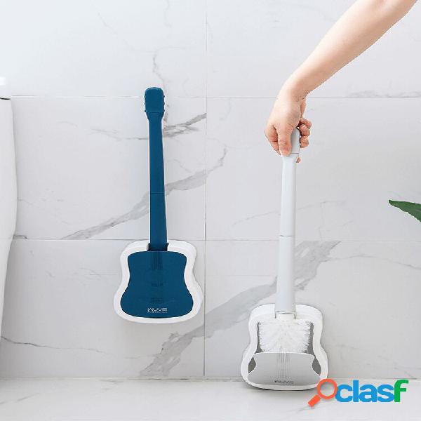 Wc ad angolo cieco a manico lungo 1pc pennello con supporto per lavaggio spazzole wc a parete pennello