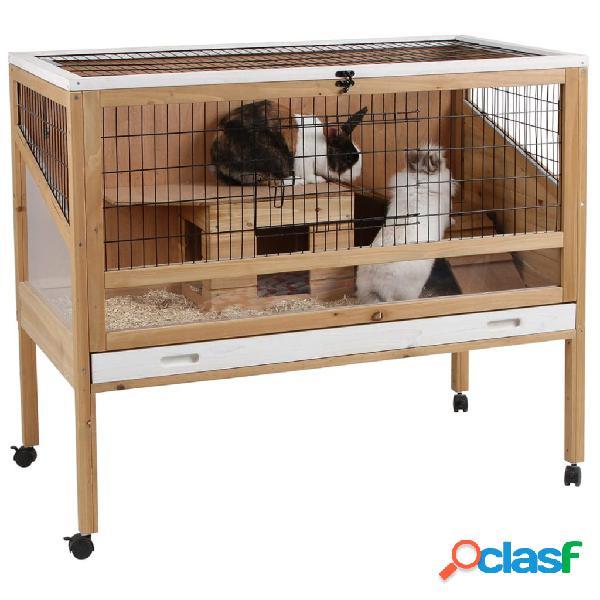 Kerbl gabbia animali piccoli indoor deluxe 115x60x92,5 cm legno 82725