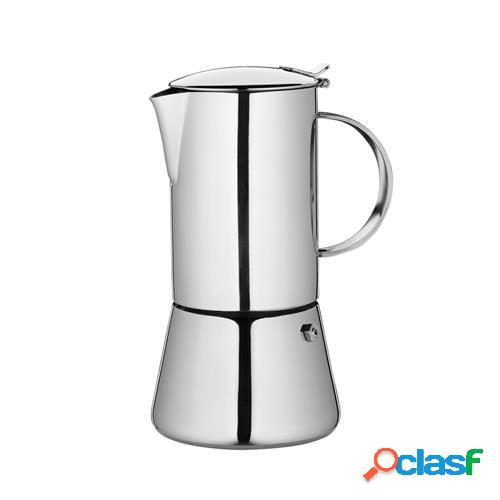 Caffettiera espresso aida lucida per induzione, 6 tazze