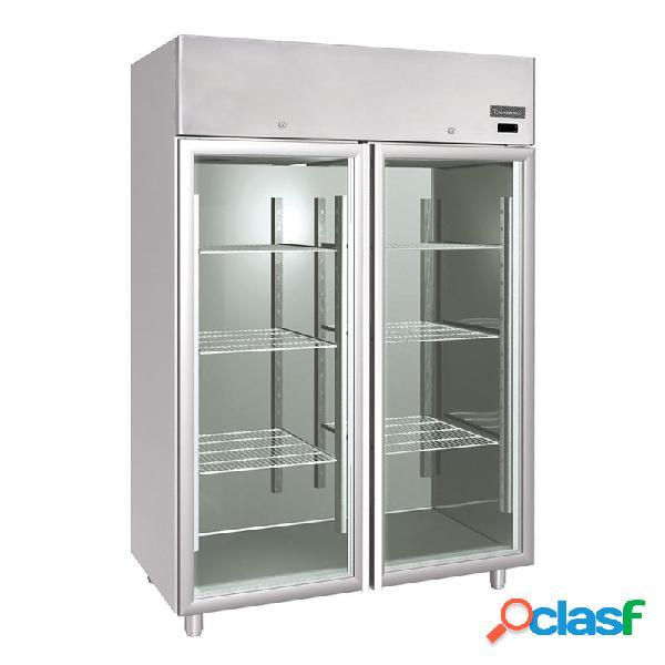 Armadio refrigerato verticale in inox ventilato - 1200 lt - temperatura 0°/+10°c - predisposto per motore remoto