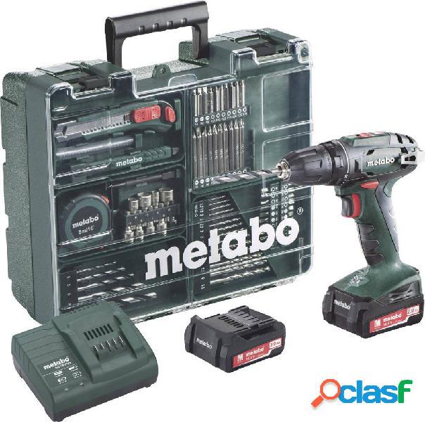 Metabo bs 14.4 602206880 trapano avvitatore a batteria 14.4 v 2 ah li-ion incl. seconda batteria, incl. accessori, incl. valigia