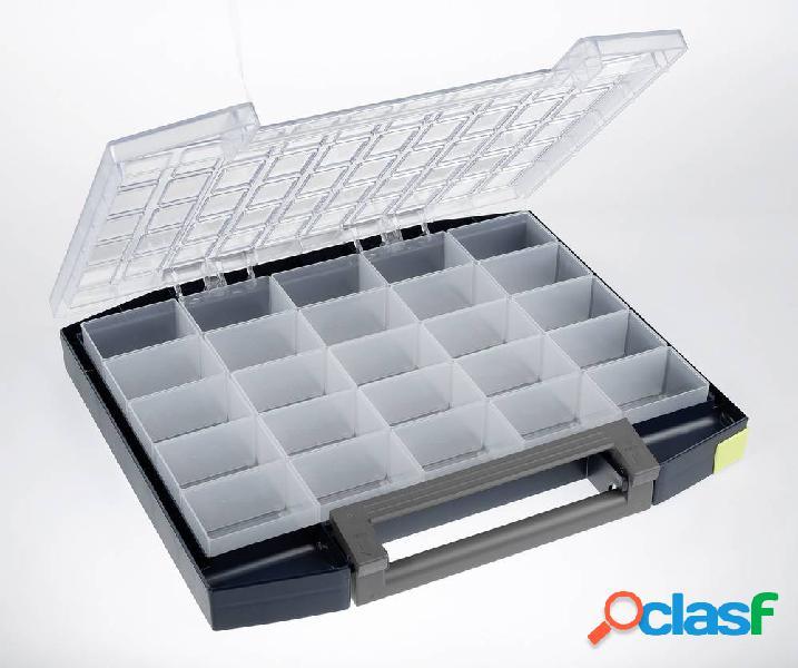 Raaco boxxser 55 5x10-25 valigetta per minuteria (l x a x p) 421 x 55 x 361 mm scomparti: 25 1 pz.