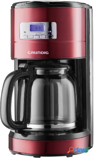 Grundig km 6330 macchina per il caffè rosso (metallico), nero, acciaio inox capacità tazze=12 display, funzione timer