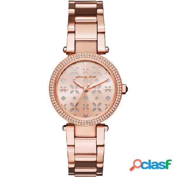 Michael kors mini parker orologio donna tonalità oro rosa mod. mk6470