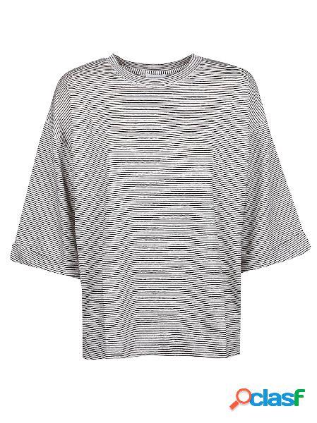 Calvin klein t-shirt donna k20k200809907 lino bianco