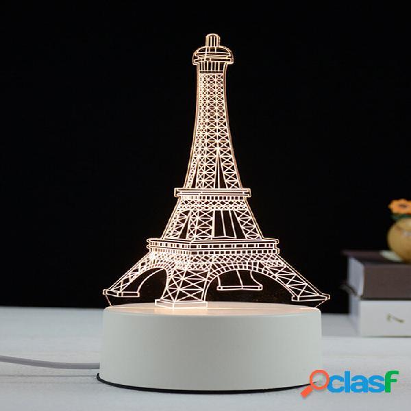 3d torre eiffel led night light ricarica usb creativo colorful decorazioni per la casa per camera da letto giardino sogg