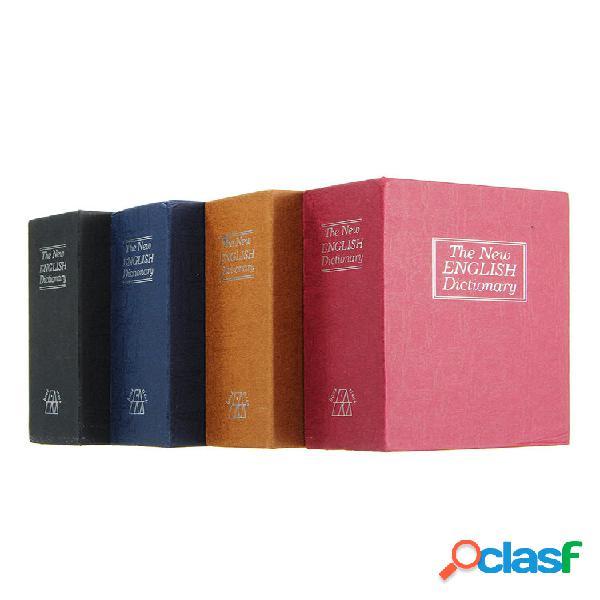 Home security dictionary libro segreto chiave di archiviazione sicura serratura scatola gioielli in contanti