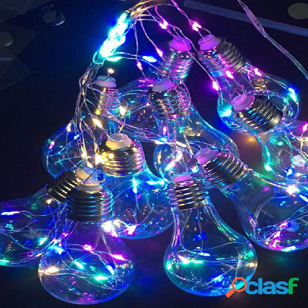 10 lampadine led string fairy light hanging firefly party wedding home decor