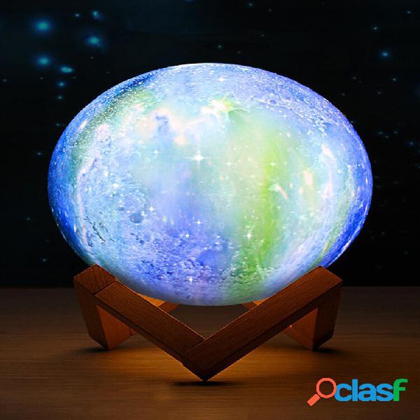 Stampa 3d luna lampada spazio led luce notturna remoto controllo carica usb migliori regali