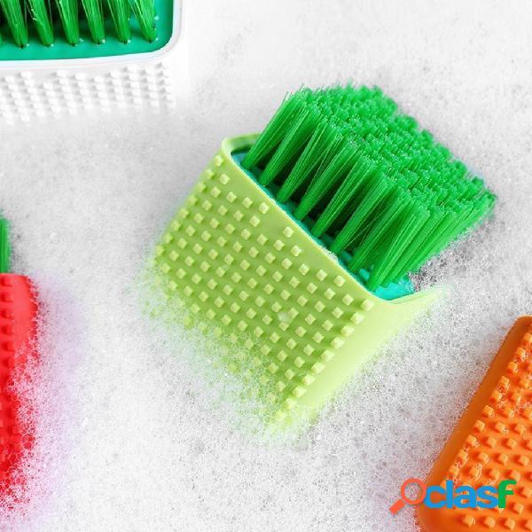 Silicone pulizia pennello trucco detergente lavaggio scrubber strumento lavaggio pennello strumento di lavaggio