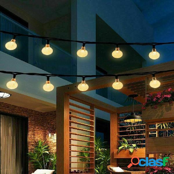 9.5m 50 led solare fiaba lampadina string light 8 modalità giardino interno esterno festa per matrimoni lampada
