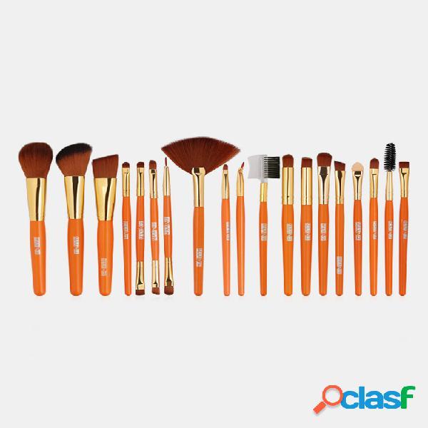 19 pezzi trucco pennello set ombretto a doppia estremità blush pennello strumento per il viso trucco