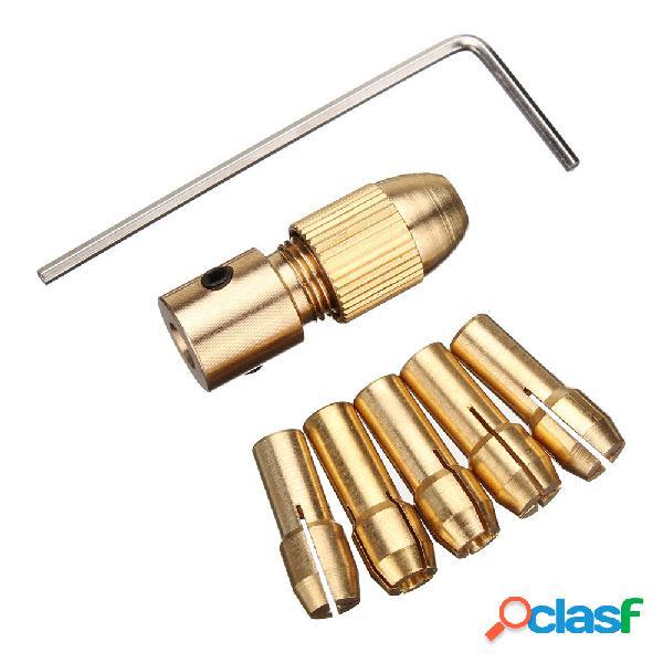 Drillpro 8pcs 0.5-3mm piccolo trapano elettrico punta pinza trapano chuck strumento per gambo 3.17 / 5.05mm