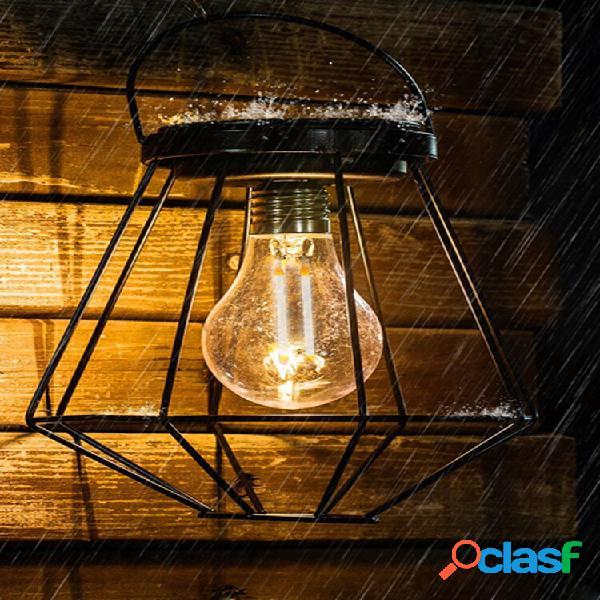 Solare powered vintage led lanterna lampada a sospensione giardino esterno lampada luci da esterno giardino