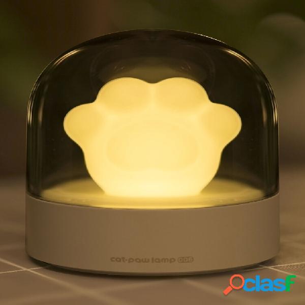 3life 006 lampada da notte musicale creativa cat paw ricarica usb led luce notturna integrata nel lettore musicale