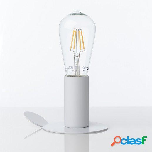 Punto luce da muro o da tavolo applique con magnete bianco