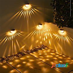 Lampada da parete solare a led luci 2 pezzi 1 pz ombra goccia d'acqua giardino esterno scale illuminazione decorativa impermeabile caldo freddo bianco 1400 mah lightinthebox