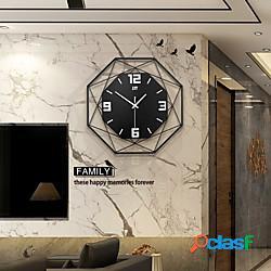 Silenzioso arte del ferro moda orologio da parete orologi design moderno per ufficio arredamento casa orologio da parete appeso stile europeo miniinthebox
