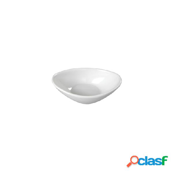 Coppetta Ovale In Melamina Bianca Cm 10 - Bianco