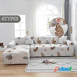 Popolare copridivano floreale per soggiorno copridivano angolare componibile floreale copridivano elastico copridivano a forma di l adatto per 1-4 cuscino divano e divano a forma di l (1pcfre