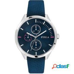 Orologio originale furla r4251102528 donna 40mm acciaio pelle bl nuovo con scatola e garanzia 24 mesi - furla - r4251102528