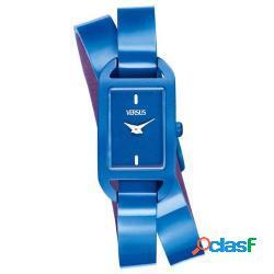 Orologio originale versus sgq03 donna 20mm acciaio/blu pelle blu nuovo con scatola e garanzia 24 mesi - versus by versace - sgq03