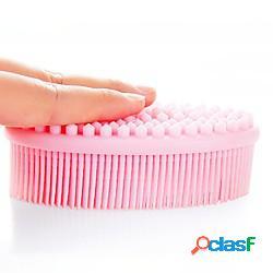 Spazzole da bagno in silicone spazzola per doccia morbida a doppia faccia per bambini spazzola per massaggio doccia per bambini spazzola tattile per l'allenamento sensoriale del bambino light