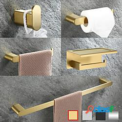 Accessorio bagno multifunzione portasciugamani in acciaio inox / porta carta igienica / porta accappatoio / mensola bagno a parete lightinthebox