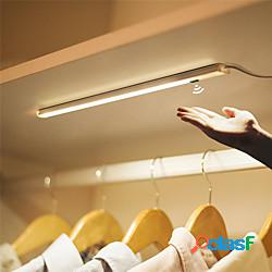 Led cabinet lighting 1pcs 40cm usb body motion sensor wall lamp 20cm 30cm night light induction lamp corridor cabinet wall lamp sensore a infrarossi led cabinet closet lamp lightinthebox