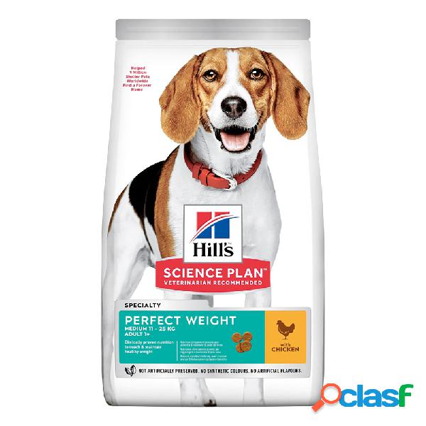 Hill's science plan dog perfect weight medium con pollo 12kg.