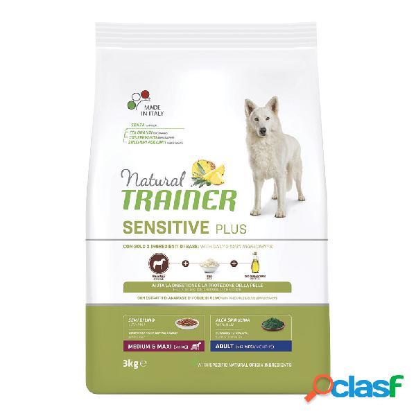 Natural trainer dog gluten free sensitive plus medium&maxi adult...