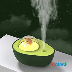 Umidificatore avocado con luce notturna usb gatto palla luce notturna umidificatori camera da letto decorazione della casa per regalo per bambini lightinthebox
