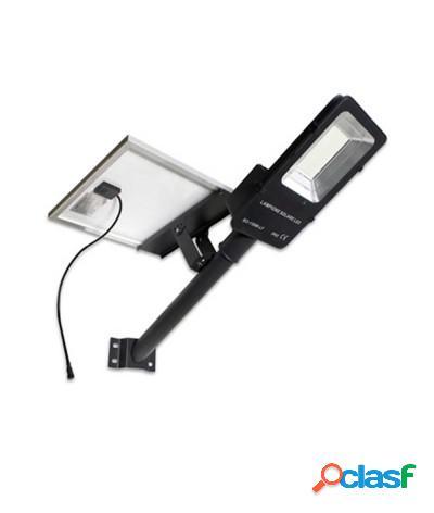 Lampione led solare 200w faro + pannello energia solare ip65 6500k