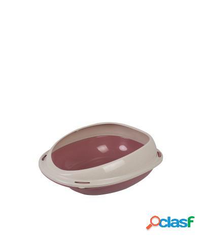 Toilette per gatti lettiera aperta 45x38x16 cm rosa