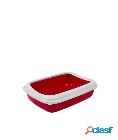 Toilette per gatti lettiera aperta junior 40x30x10.5 cm ciliegia