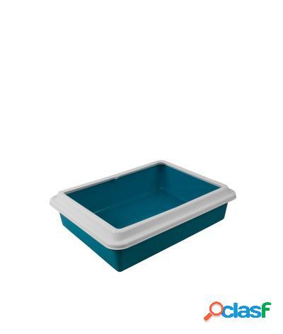 Toilette per gatti lettiera aperta max 43.5x34x11 cm azzurro