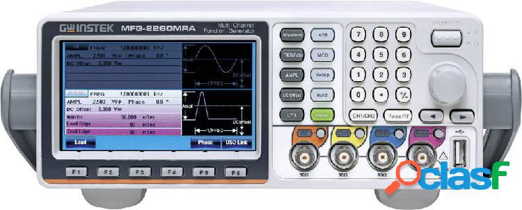 Gw instek mfg-2260mra generatore di funzioni 1 hz - 60 mhz 2 canali arbitrario, sinuosidale, quadra, triangolare, puls