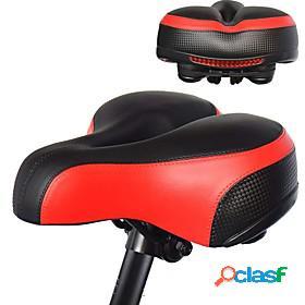 Bike saddle / bike seat extra wide / extra large comfort cushion pu leather silica gel cycling road bike mountain bike mtb black red blue